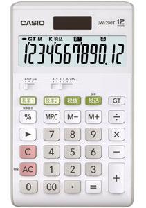 カシオ スタンダード電卓 W税率設定・税計算 ジャストタイプ 12桁 JW-200T-N