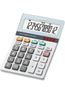 シャープ 電卓 セミデスクトップタイプ 12桁表示 チルト機能付き EL-SA72-X